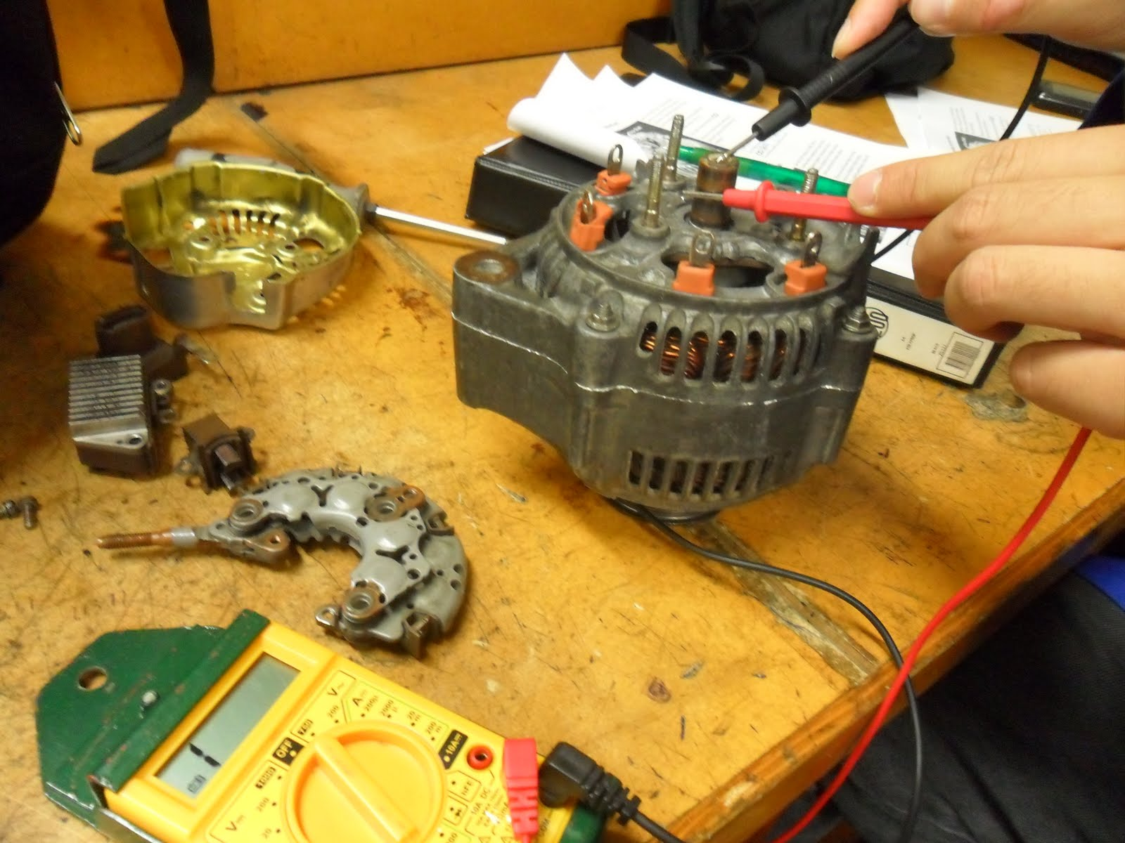 4841 Electrical And Electronics Alternator Off Car Testing Multimeter Wiring The Reading Achieved Was 32 Minus Internal Resistance Of Which Gives A Final Result 28 Ohms Results These Tests Are Within
