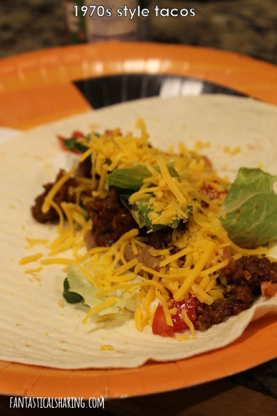 1970s Style Tacos // These tacos are homemade with the perfect mix of spices to bring up a feeling of nostalgia #recipe #beef #tacos