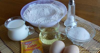 Preparare clatite cu branza dulce-etapa 1