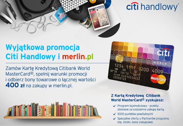 merlin.pl citibank promocja karty kredytowej World MasterCard