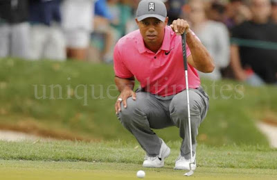 tiger woods focus on ball