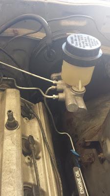 Tercel brake booster + S13 Brake master Cylinder