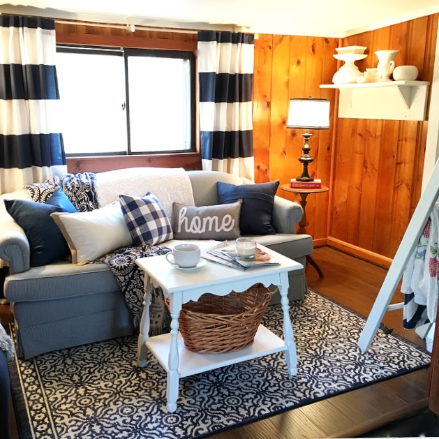 The Yellow Cape Cod The Blog Cabin Living Room Makeover