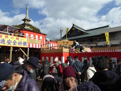 成田山節分祭 福豆まき式場