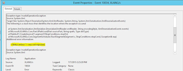 There is an error in the XML document : InvalidOperationException