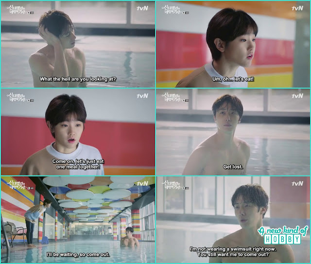 ha won and jo woon at the swimg pool  - Cinderella and Four Knights - Episode 4 Review