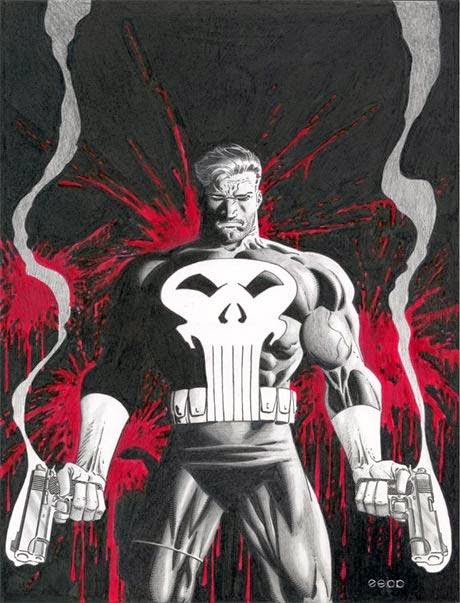The Punisher is armed and ready for action