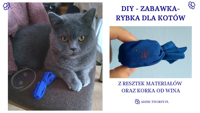 DIY: Zabawka-rybka dla kota - zrobisz ją ze ścinek i korka od wina!