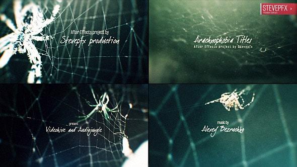قالب افتر افكت برومو نصوص مع شبكة العنكبوت