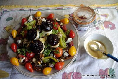 Une salade d'Automne d'après Marie-Jeanne.