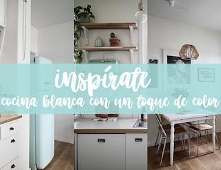 Inspírate: una cocina blanca con toques MINT