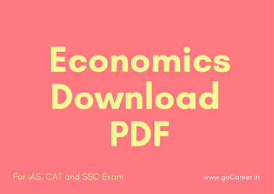 SSC CGL 2016 Economics Questions: Download PDF