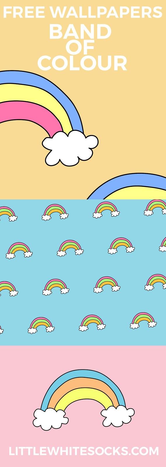 rainbow wallpaper pinterest