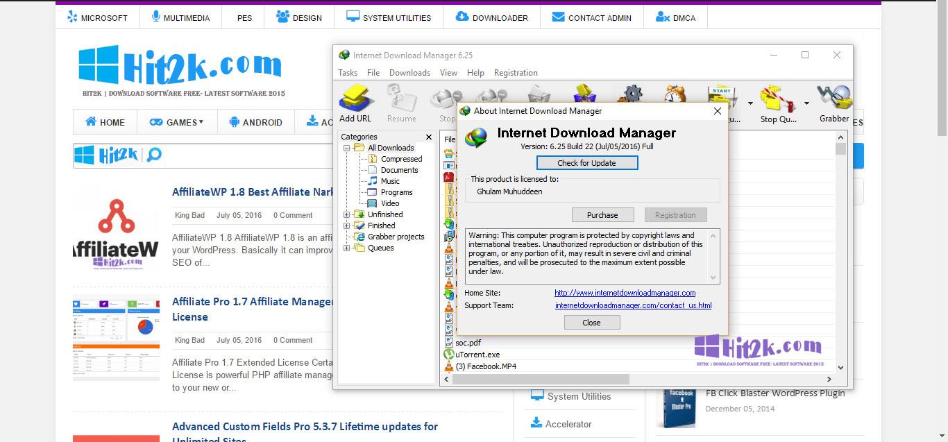 idm (internet download manager) 6.25 full crack for free 2016