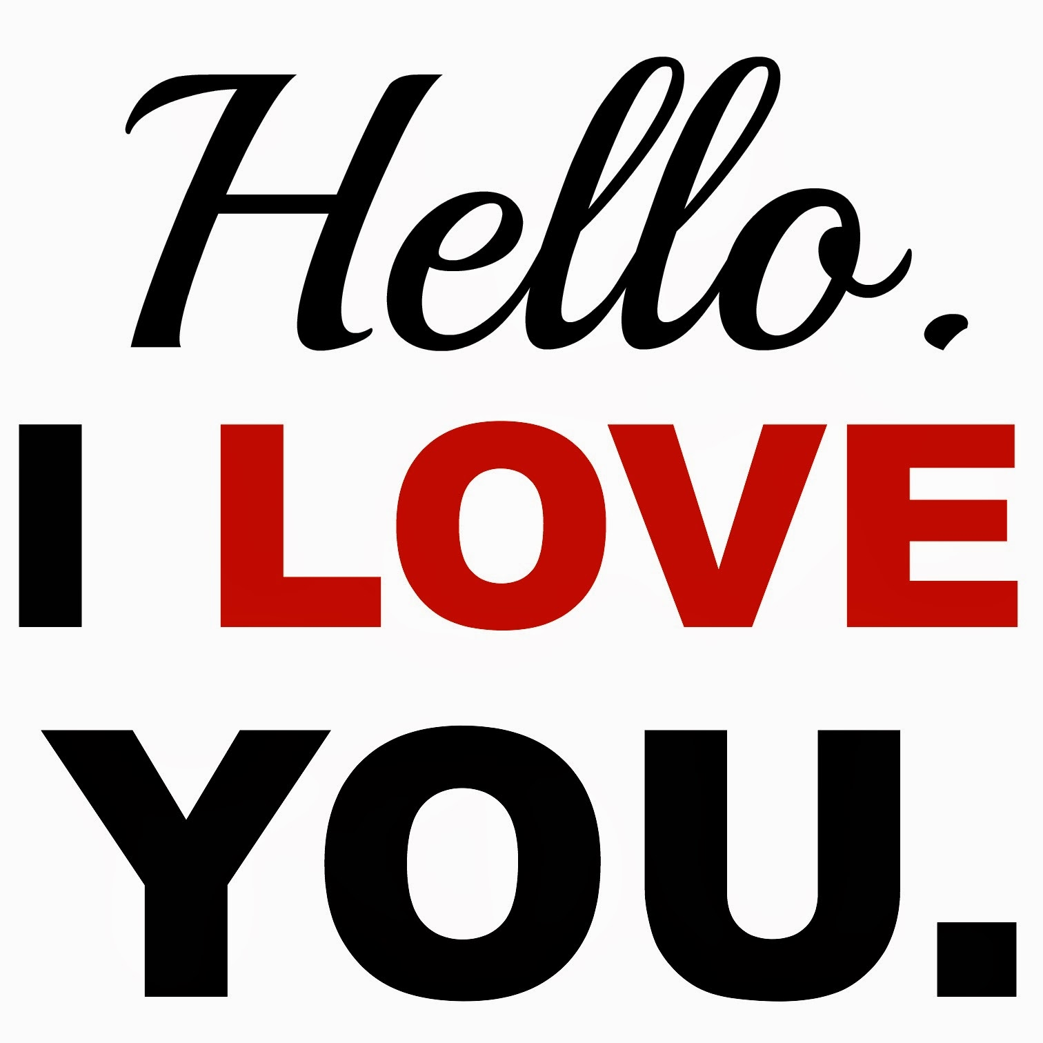 The Words I Love You I...