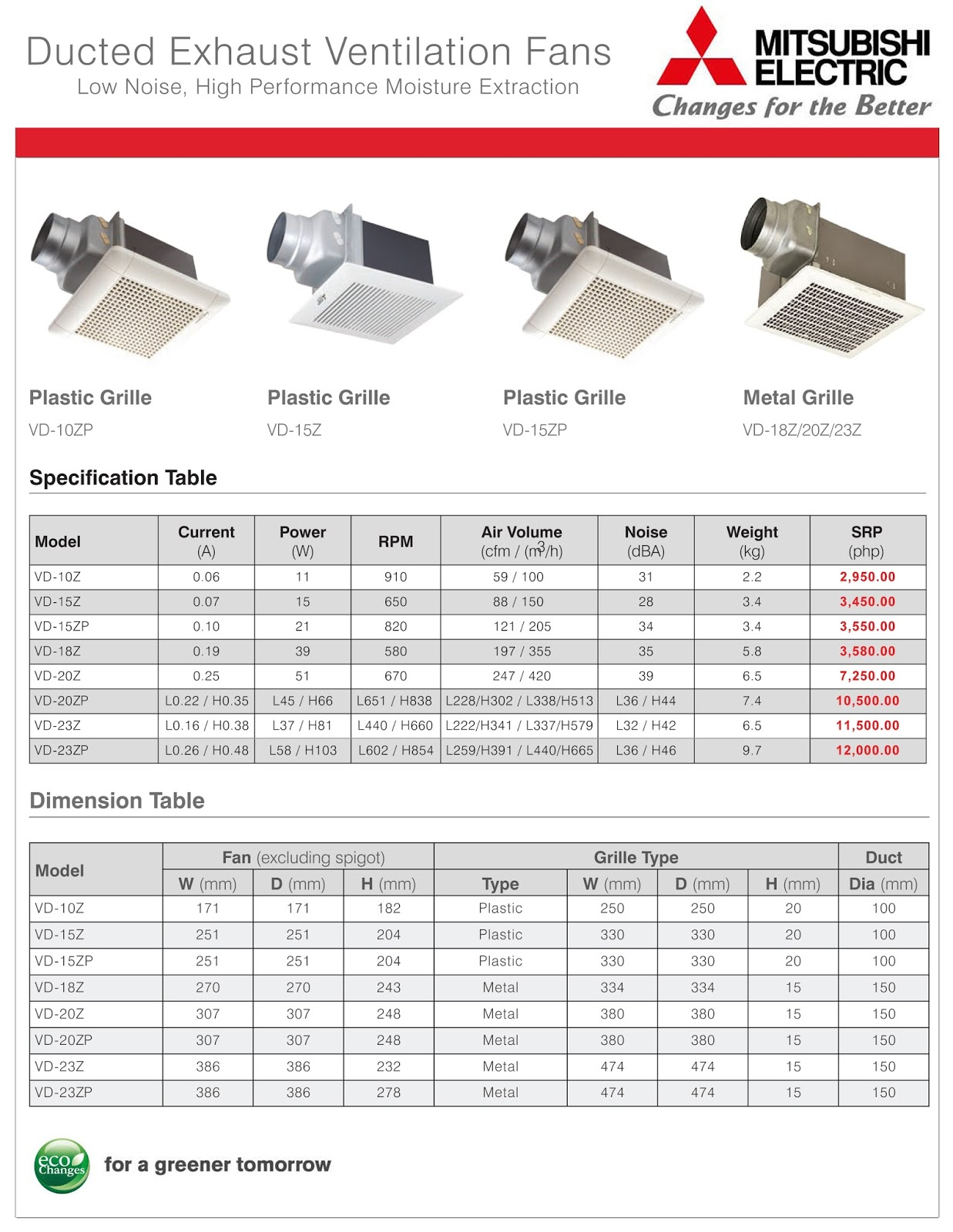 Maximax Systems: MITSUBISHI ELECTRIC DUCTED EXHAUST