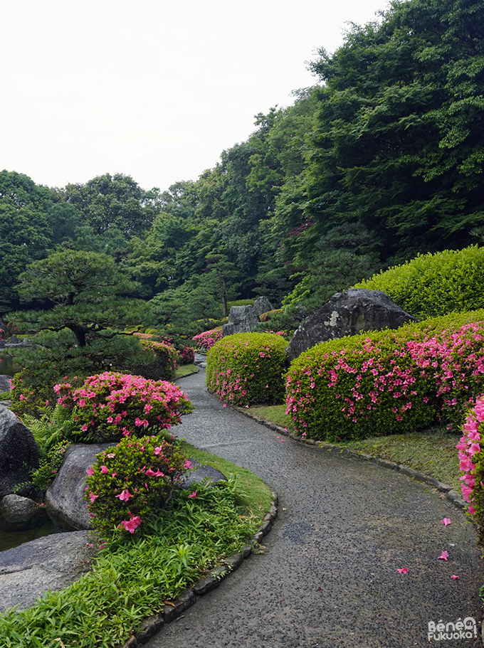 大濠公園の日本庭園、福岡