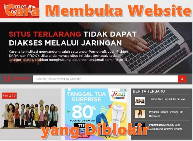 Cara Membuka Website yang Diblokir