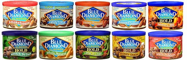 Blue Diamond Almond Flavors