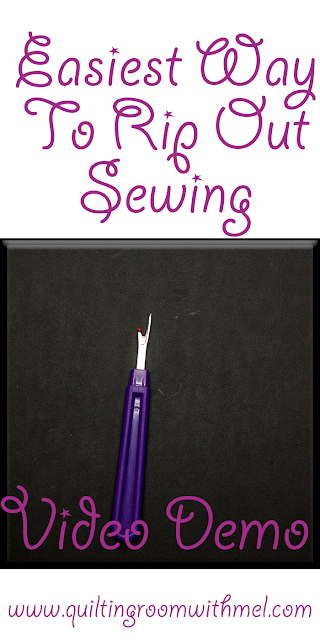 easiest way to rip out sewing