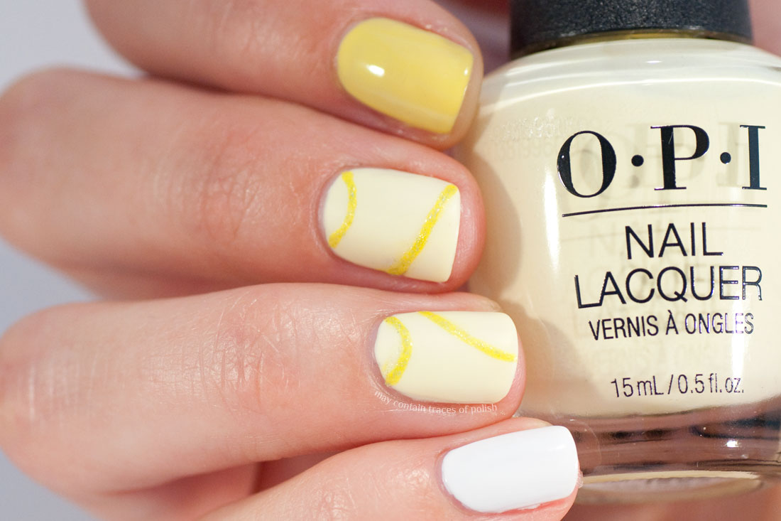 31 Day Challenge: Day 3, Yellow Nails - OPI Meet a Boy Cute As Can Be Nail Art
