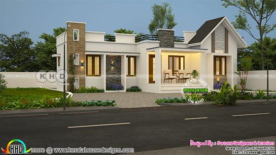 1300 square feet 3 bedroom mixed roof home