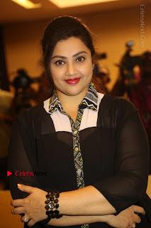 Tamil Actress Meena Latest Stills in Black Dress at TSR TV9 Awards Press Meet  0062.JPG