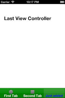 iOS UITabBarController Last Tab