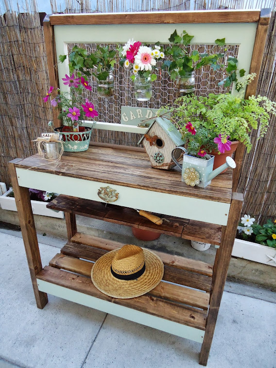 Vintage Style Potting Table - SOLD
