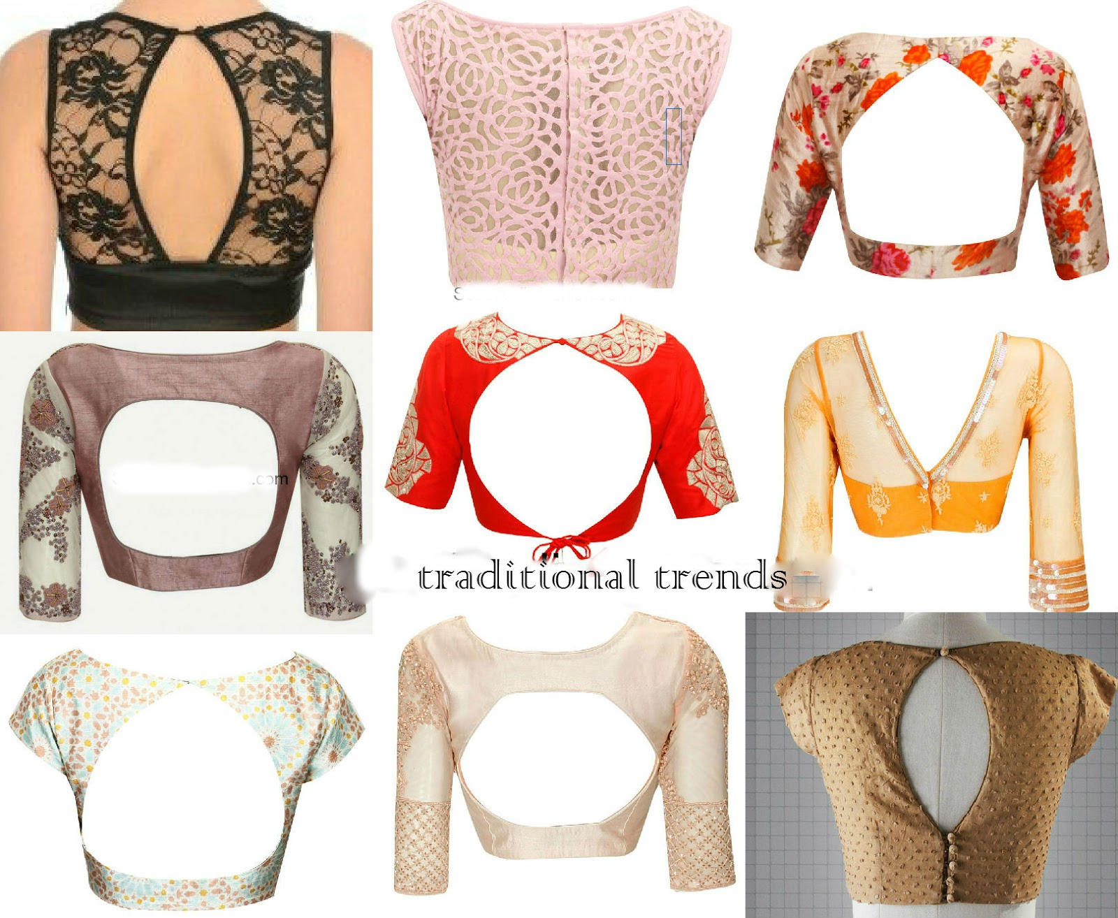 traditional trends back designs