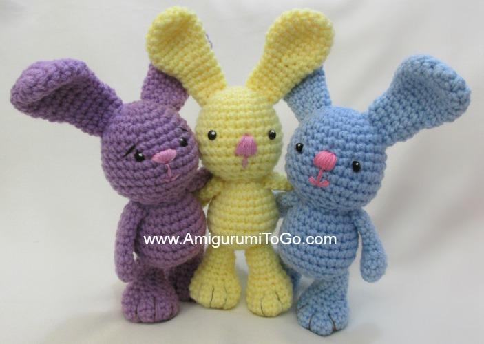 Amigurumi Rabbit For Beginners : Little Bigfoot Bunny Revised 2014 Amigurumi Video Tutorial ...