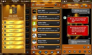 Download BBM Mod Gold Elegan transparent V3.1.0.13