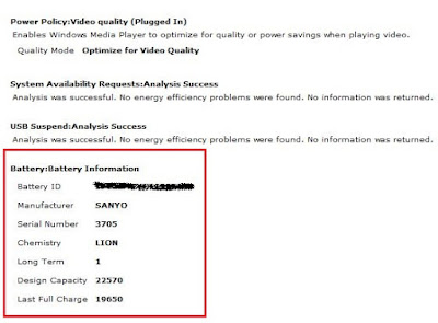 Cara mengetahui kapasitas Baterai Laptop dengan CMD