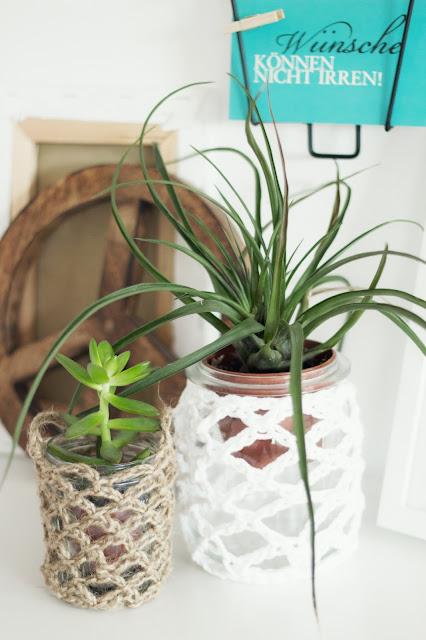 Urban Jungle, selbstgehäkelt, Diy, Häkelgläser,Pflanzen selber ziehen