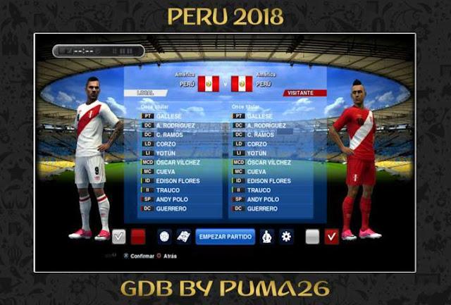 Peru 2018 Kit PES 2013