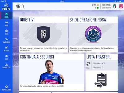 La schermata principale della Companion App