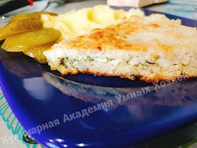 Куриный пирог с яйцом и зеленью