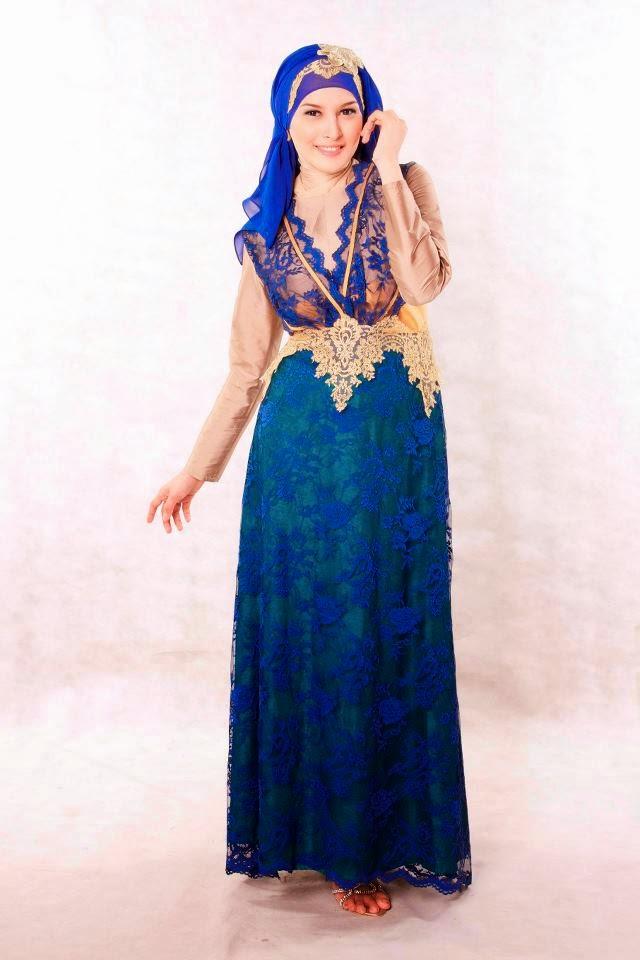 Contoh Baju Pesta Muslim Moderen 2015