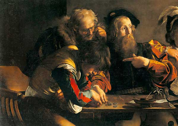 Caravaggio Berufung Des Hl. Matthäus