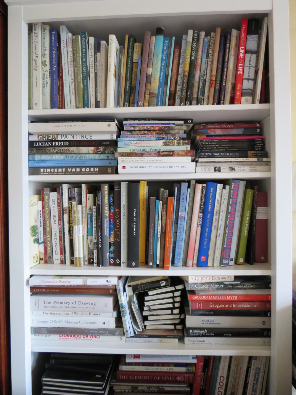 Ikea Hemnes Bookcase Loaded With Art Books And Sketchbooks Three More To Construct Was It Easy Yes Click The Image See A Larger