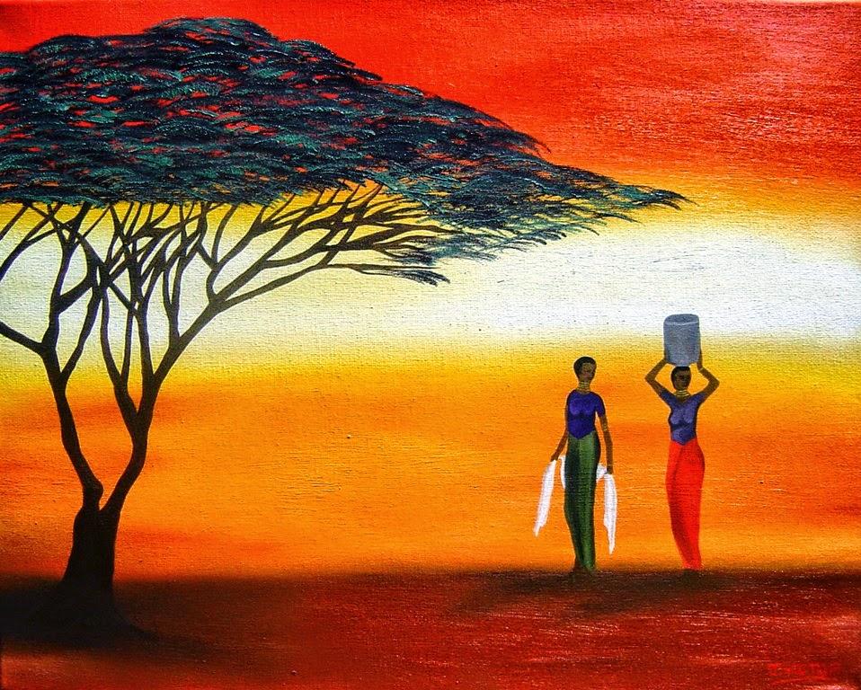 Pinturas de mujeres negras africanas Buscar con Google t