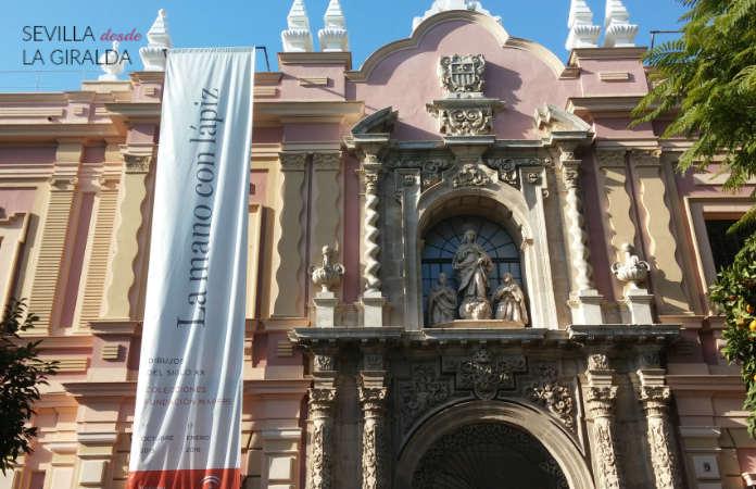 Portada principal del Museo de Bellas Artes de Sevilla, sita en la plaza del Museo.