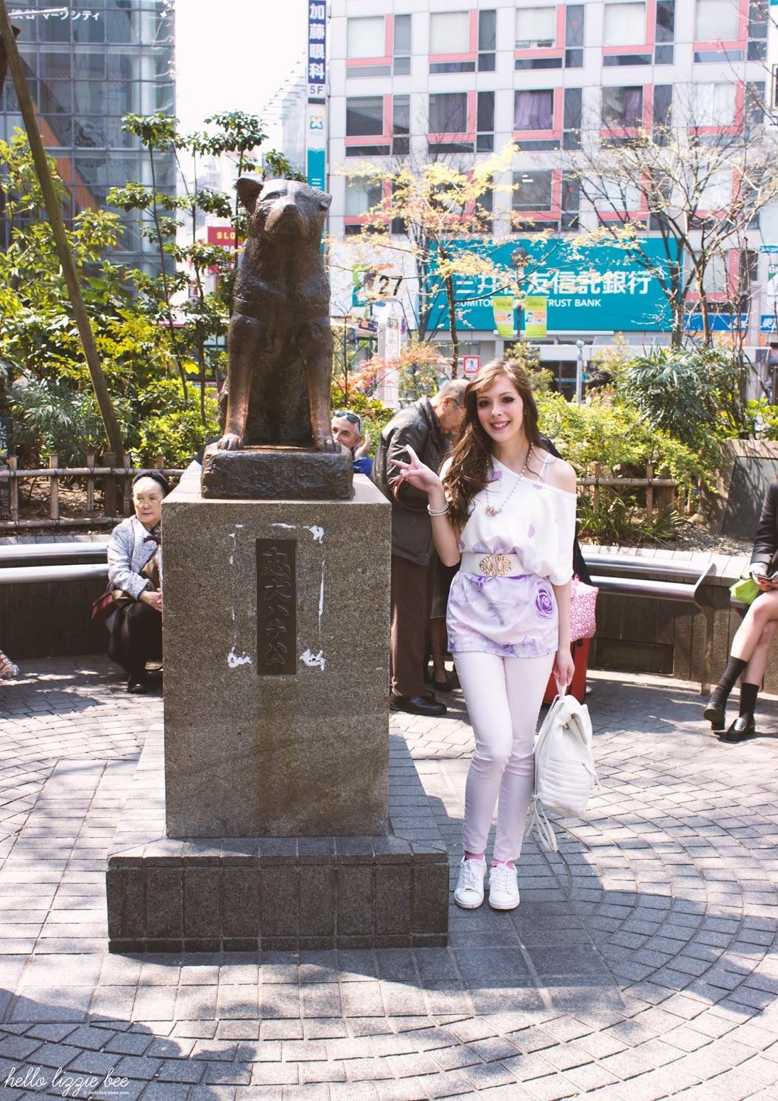hachiko statue, shibuya