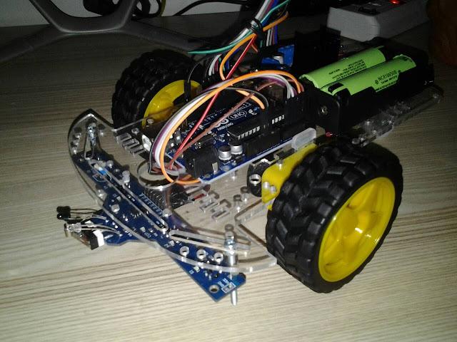 โปรเจค หุ่นยนต์เดินตามเส้น 5 เซ็นเซอร์ BFD-1000