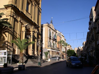 The centre of Porto Empedocle, birthplace of Camilleri and fictional home town of Montalbano