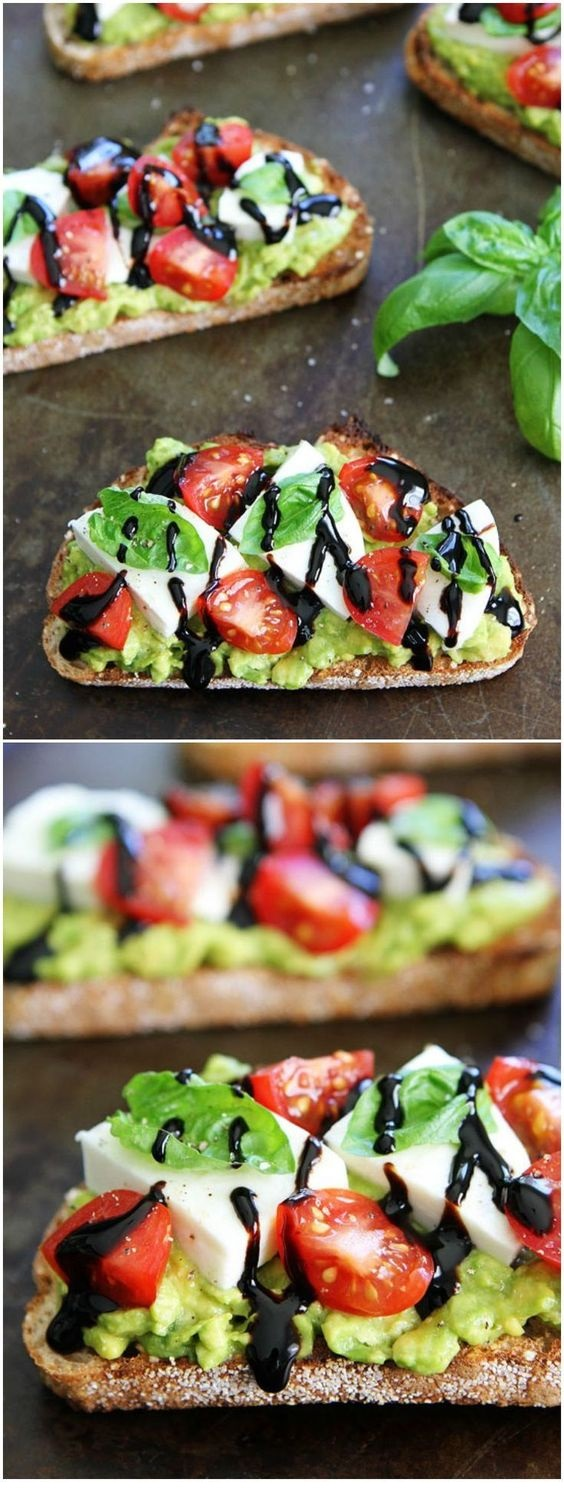 Caprese Avocado Toast