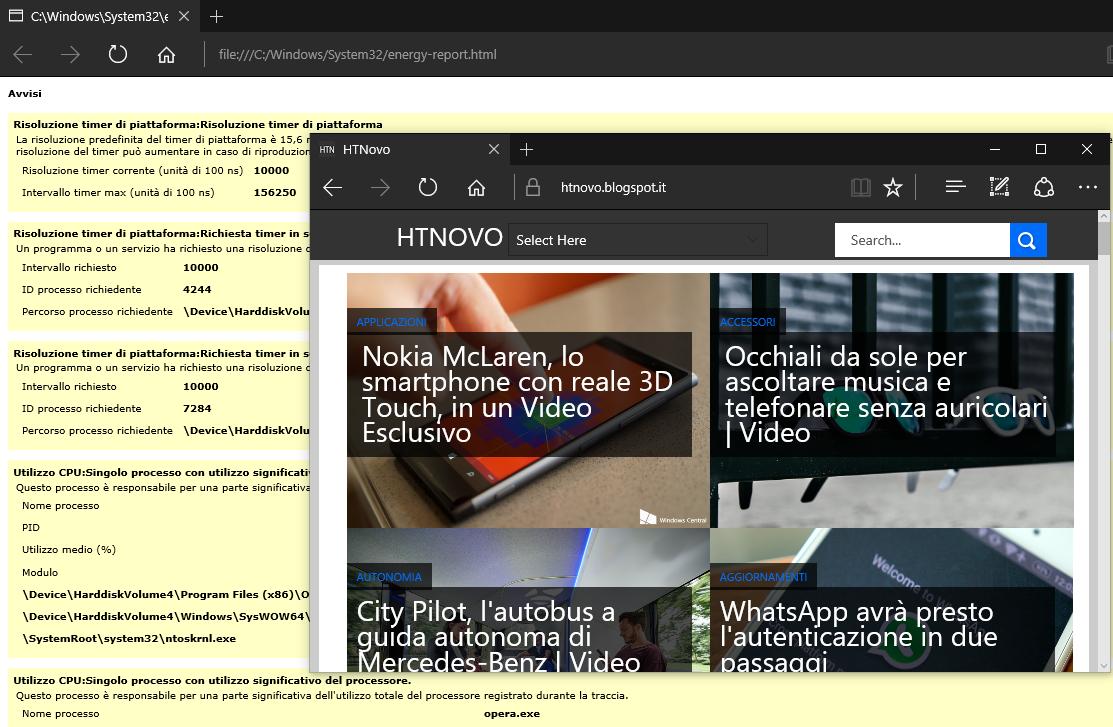 Come generare un Report di Efficienza Energetica in Windows (10 - 8 - 7) HTNovo 4