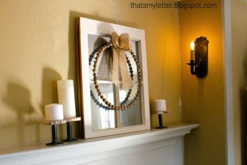 master bedroom fall mantel