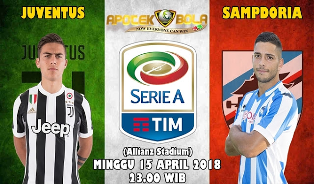 Prediksi Juventus vs Sampdoria 15 April 2018