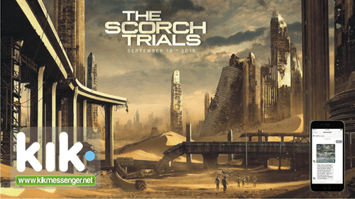Adelantos del estreno Maze Runner The Scorch Trials Brings en Kik